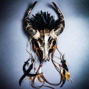 Antelope Devil Horns Animal Skull Ghost Halloween
